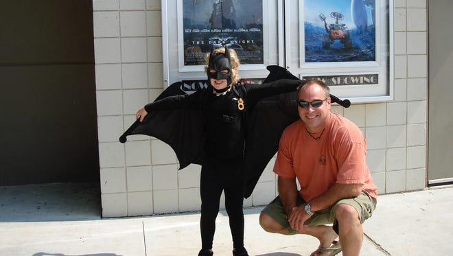 When Robert St. John's son was younger, he always dressed as the superhero when attending a superhero movie.