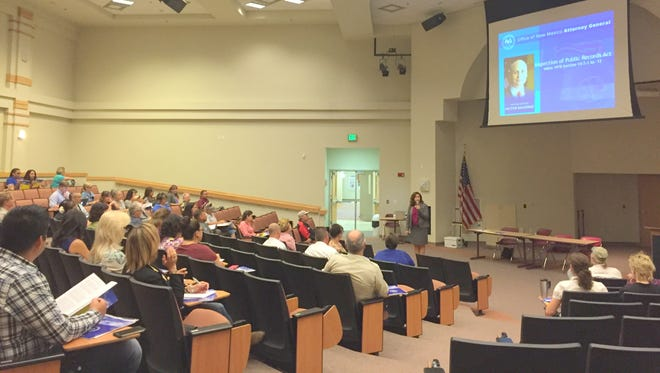 More than 50 people attended an OMA and IPRA training that was put on by Deputy Attorney General Tania Maestas in Silver City.