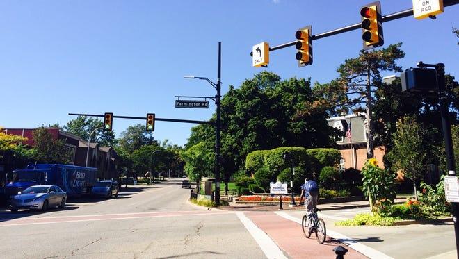 Farmington plans to decrease traffic lanes on Grand River Avenue from Farmington Road to Shiawassee Road to accommodate a bike lane.
