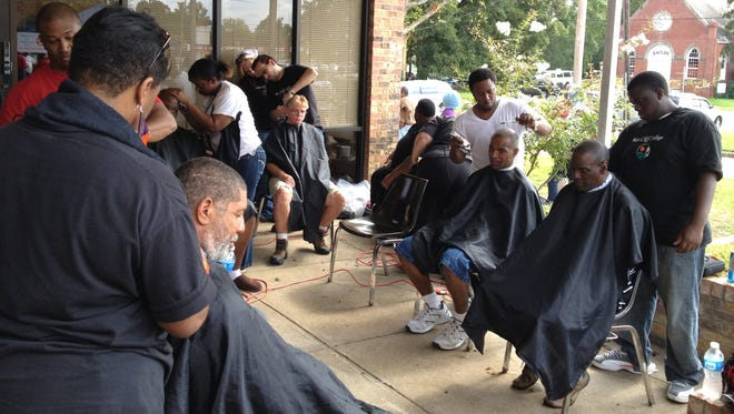 Homeless individuals get haircuts at a Homeless Stand Down event.  Homeless Stand Down 2016 is set for 8 to 11:30 a.m. Friday at the Alexandria VA Medical Center's Building 8 Auditorium, 2495 Shreveport Highway in Pineville.