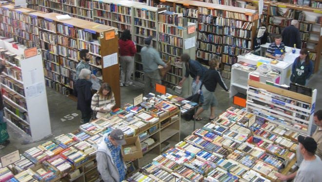 The Friends of Tompkins County Public Library Book Sale continues Saturday through Monday. Above is a scene from the 2014 book sale.