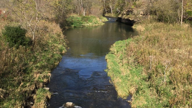 Minnesota's Whitewater River inside Whitewater State Park can be easily accessed but is not particular easy to fish.