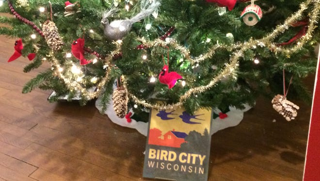 Bird City Wisconsin Rapids decorated a Christmas tree at the South Wood County Historical Museum in Wisconsin Rapids.