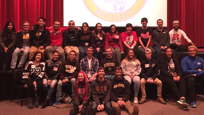 Numerous graduates of Millville High School, who now attend various colleges and universities, returned to the school to speak to students about what to expect in their first year of college.