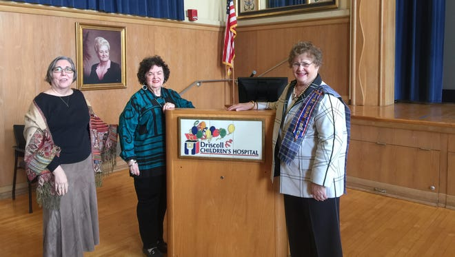 Chapter first vice president Alice Nixon (from left), keynote speaker Mary Helen Dunnam, and chapter President Anita Eisenhauer at the Daughters of the Republic of Texas-Clara Driscoll Chapter meeting Tuesday, Jan. 17, 2017.