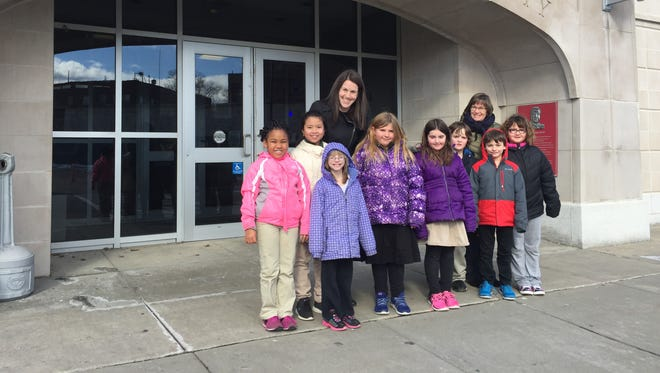 Students in St. James' third-grade class delivered care packages to the Johnson City Police Department on Monday.