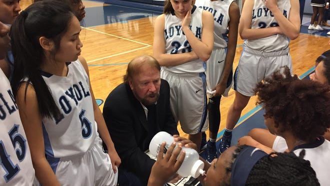 Loyola and head coach Steve McDowell collected a second-round playoff win Monday night against Teurlings Catholic.