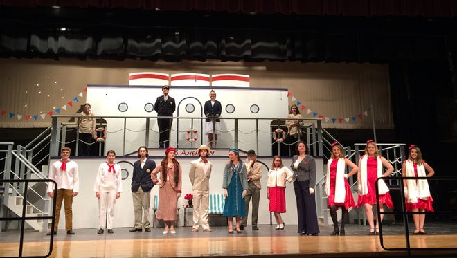 """The cast of the Dryden High School spring musical """"Anything Goes"""" is ready to entertain you this weekend."""