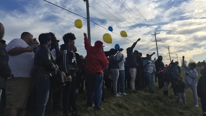 Family and friends of 36-year-old Rashim Watts released balloons into the sky on Saturday following a vigil. Watts was found dead in a Middetown-area retention pond Tuesday.