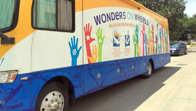 Wonders on Wheels parked in front of the Silver City Public Library in 2017.