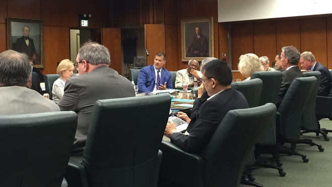 Mitch Lyons, a trustee at Michigan State University, addressed the board and members of the public Wednesday. He discussed how he came to say during a radio interview that Auston Robertson was the person who reported an alleged sexual assault back in January.