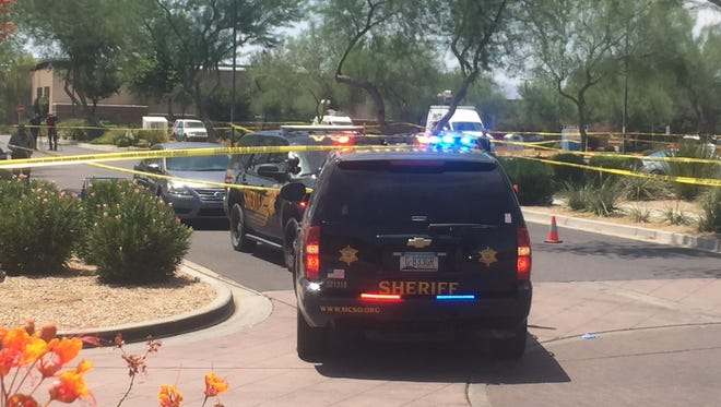 A Maricopa County Sheriff's Office deputy shot and killed a man in Goodyear on July 13, 2017, who rear-ended his patrol vehicle and then approached him while brandishing a knife, officials said.