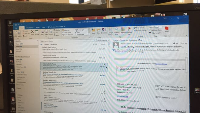 Don't trust emails, a computer security expert says. Anyone can mask their identity in an email and make it appear someone else sent it. This was the case earlier this week at West Lafayette when a con artist tried to pass himself off as Mayor John Dennis in an email.