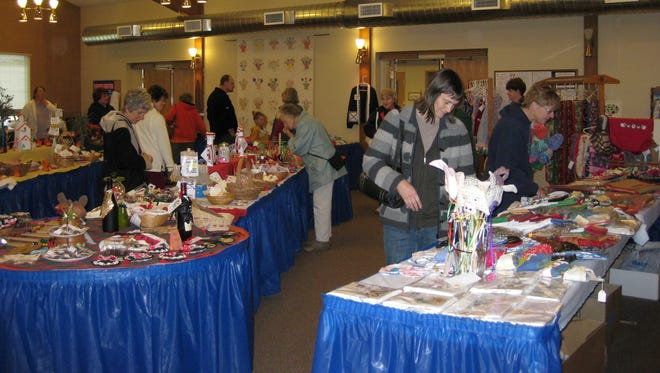 Customers peruse the goods at the annual Stayton United Methodist Church Bazaar.