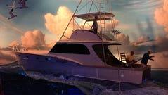 A saltwater fishing diorama.