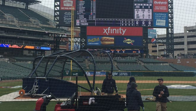 A view of the new netting at Comerica Park that will help protect fans from foul balls.