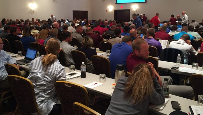 Officials from about 150 public schools met in State College to discuss the possibility of separating from the PIAA if the body does not grant separate playoffs for public and non-public schools.