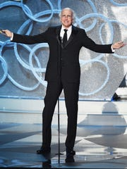 Actor/writer Larry David speaks onstage during the