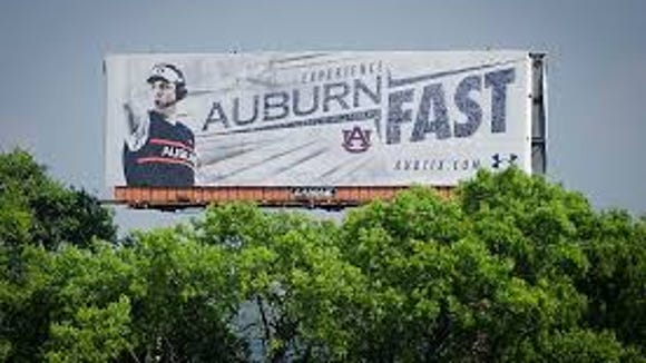 Shortly after Malzahn's first season as head coach, 'Auburn fast' billboards went up all over the state promoting the Tigers pace of play.
