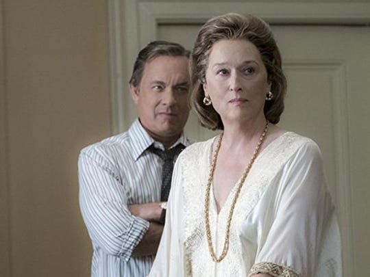 """Tom Hanks and Meryl Streep in """"The Post,"""" directed"""