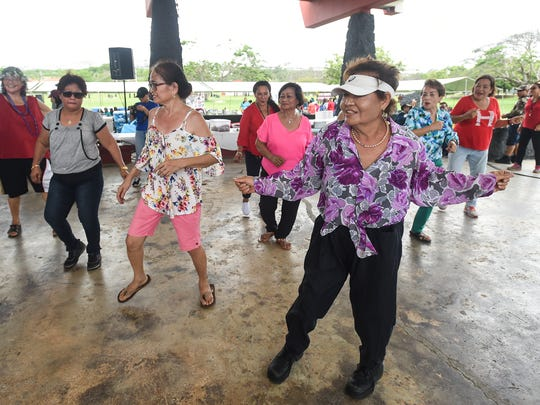 Manamko' hit the dance floor during the third annual Huegon-Manamko' Senior Games at the Governor Joseph Flores Beach Park in Tumon on April 27, 2018.