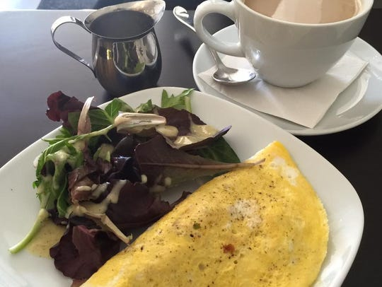 An omelet from Cafe Vienna.