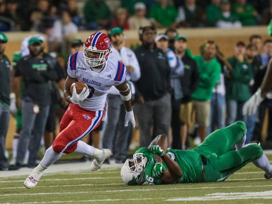 Louisiana Tech running back Jarred Craft rushed for