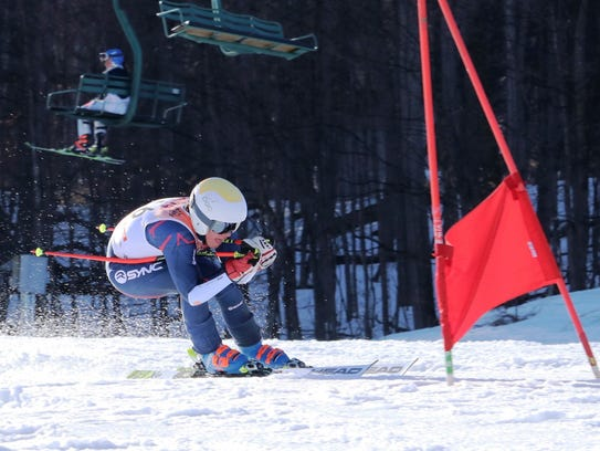 Lakeland's James Wenzloff was third in the giant slalom