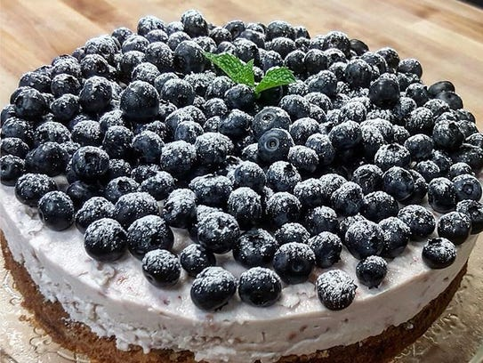 An Italian-style blueberry cheesecake from Colleoni's.