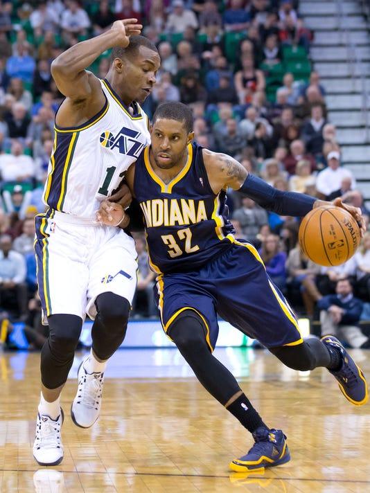 NBA  Indiana Pacers at Utah Jazz. Pacers guard C.J. Watson ... 59eac51a5