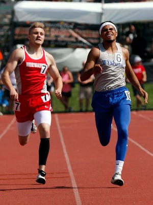 Wynford's Alizhah Watson runs in the 400 meter dash Saturday, June 2, 2018, during the state track and field championship at Jesse Owens Memorial Stadium in Columbus.
