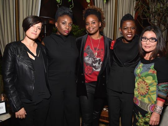 Cinematographer Rachel Morrison, Tamar-kali, Dee Rees, Angie Wells, and Mako Kamitsuna at 'Mudbound' screening on Nov. 8, 2017 in Los Angeles.