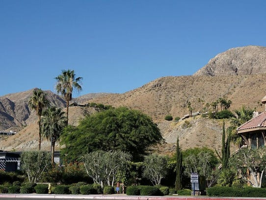 Rancho Mirage flat top hills were created by dynamite