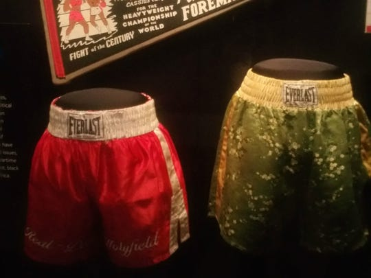 Memorabilia from the famous Muhammed Ali vs. George Foreman fight.