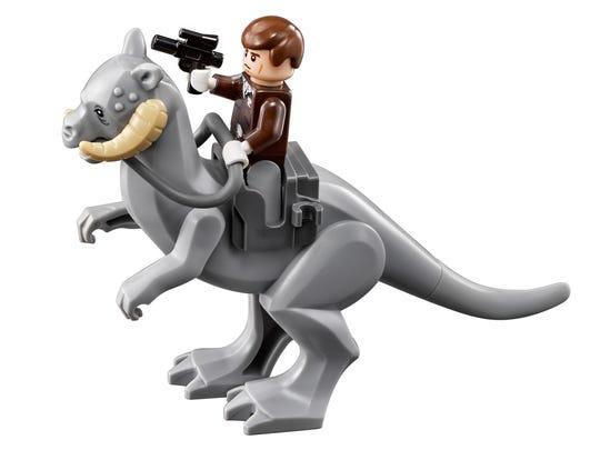 Han Solo and his LEGO Tauntaun.