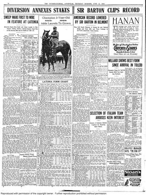 Sir Barton  1919 - The Courier-Journal