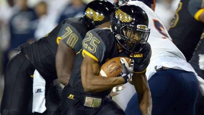 Southern Miss running back Ito Smith runs the ball during Southern Miss' Oct. 17 homecoming game against UTSA.