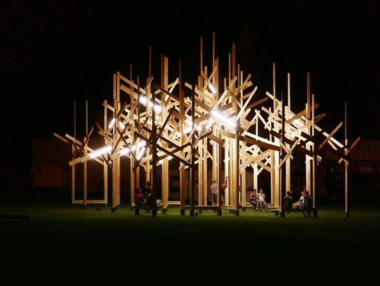 Treedom, an art installation designed by a Paris architectural