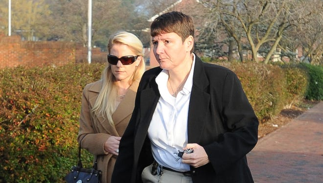 Patricia Driscoll, left, and her legal team filed rebuttal closing arguments Thursday. Driscoll is seeking a protective order against former boyfriend Kurt Busch.