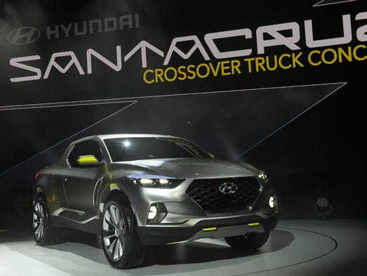 The new Santa Cruz Crossover Truck concept is displayed