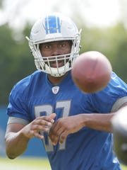 Lions tight end Darren Fells had four catches for 40