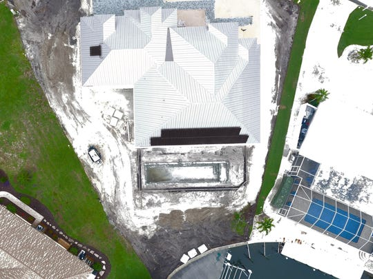 This drone photo from Advance Solar & Energy shows all of the solar panels on the roof.
