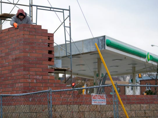 Rebuilding has begun at the BP gas station on the corner of N. Sherman Blvd. and W. Burleigh St. in Milwaukee.