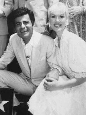 """Casey Kasem and his wife Jean smile as he receives  his own """"Star"""" on the Hollywood Walk of Fame in  Los Angeles in 1981. Kasem   died Sunday.  He was 82."""