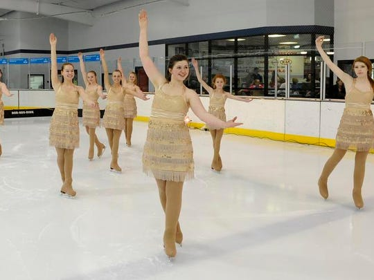 The Arctic Snowflakes Synchronized Skating team practices their program. The arena hosts a number of events that draw visitors to Licking County.