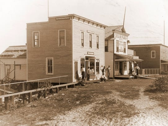 The Stanley Kitching Store (far left) served as the
