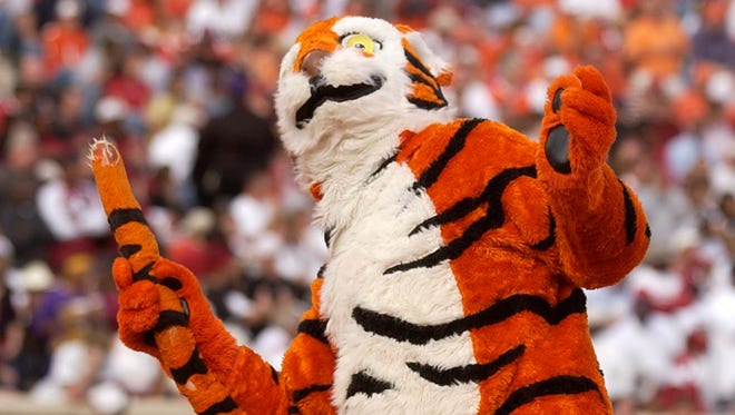 The Clemson Tiger dances in the end zone during the 1st quarter Saturday, November 20, 2004 at Clemson's Memorial Stadium.