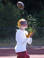 Kingston senior wide receiver Hunter Zook hopes to