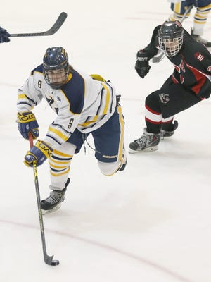 David Farrance helped Victor win the Section V Class BB championship in 2014-15. He played last season for USA Hockey's U-17 team at the National Team Development Program in Plymouth, Michigan.