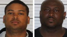 Memphis police officers Terrion Bryson (left) and Kevin Coleman arrested April 13, 2018  on drug charges.